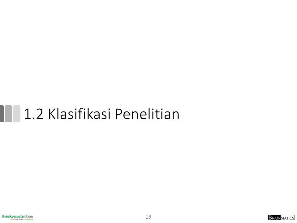 1.2 Klasifikasi Penelitian