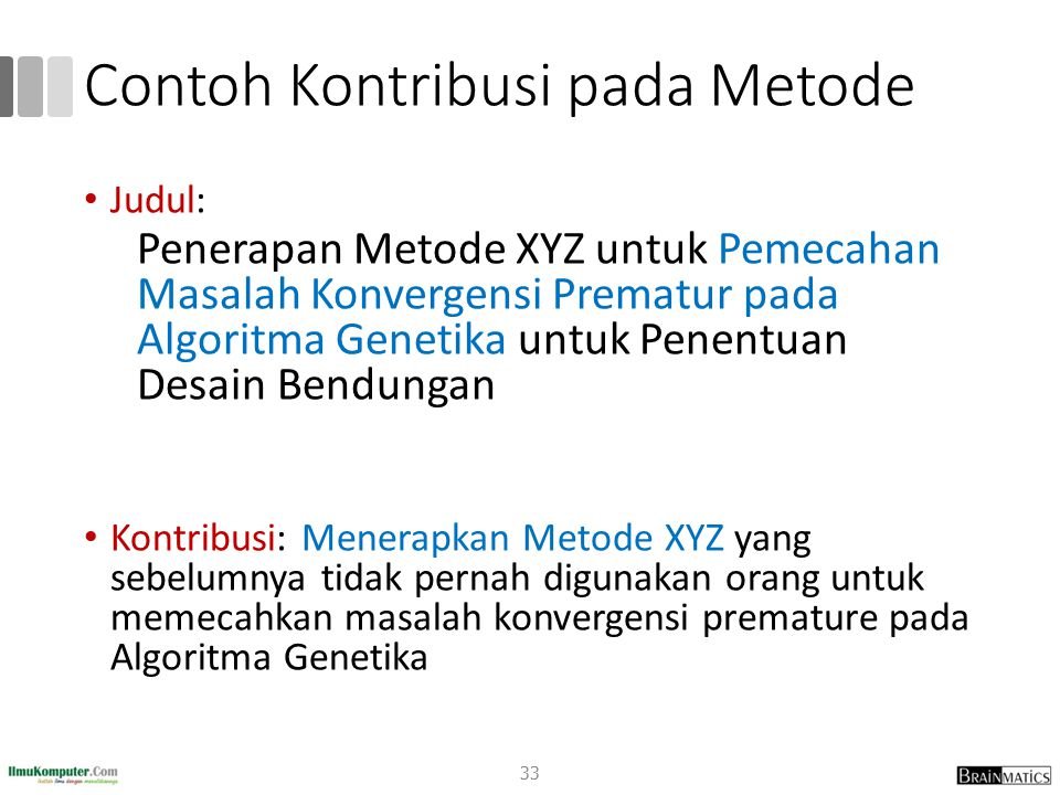 Contoh Kontribusi pada Metode