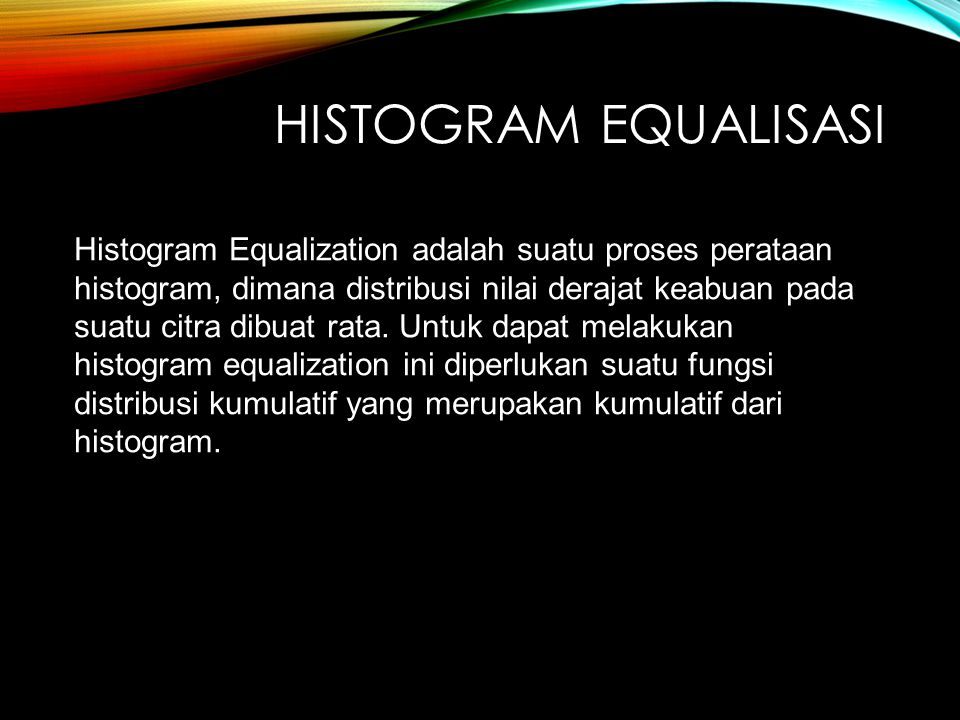 Histogram equalisasi