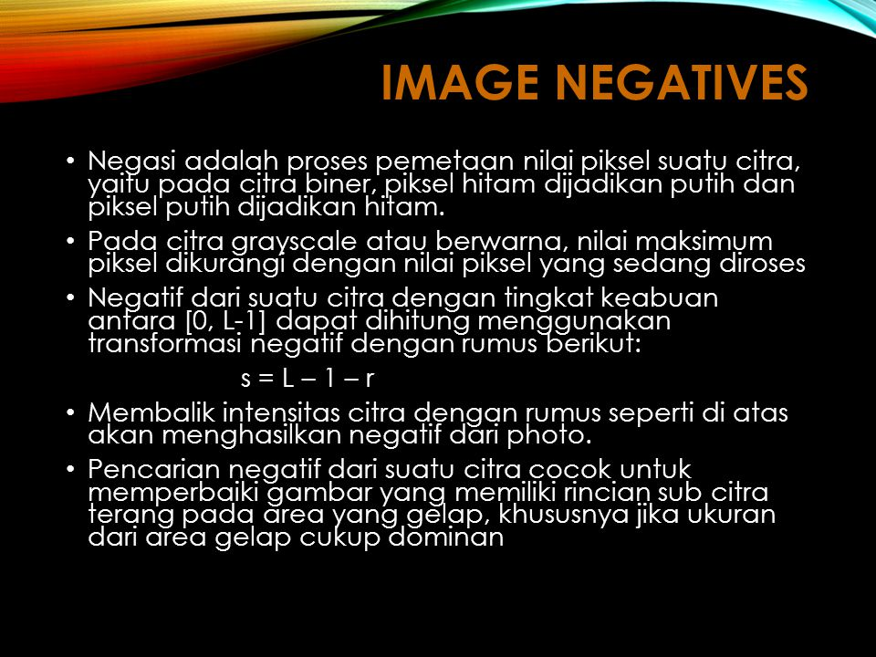 Image Negatives