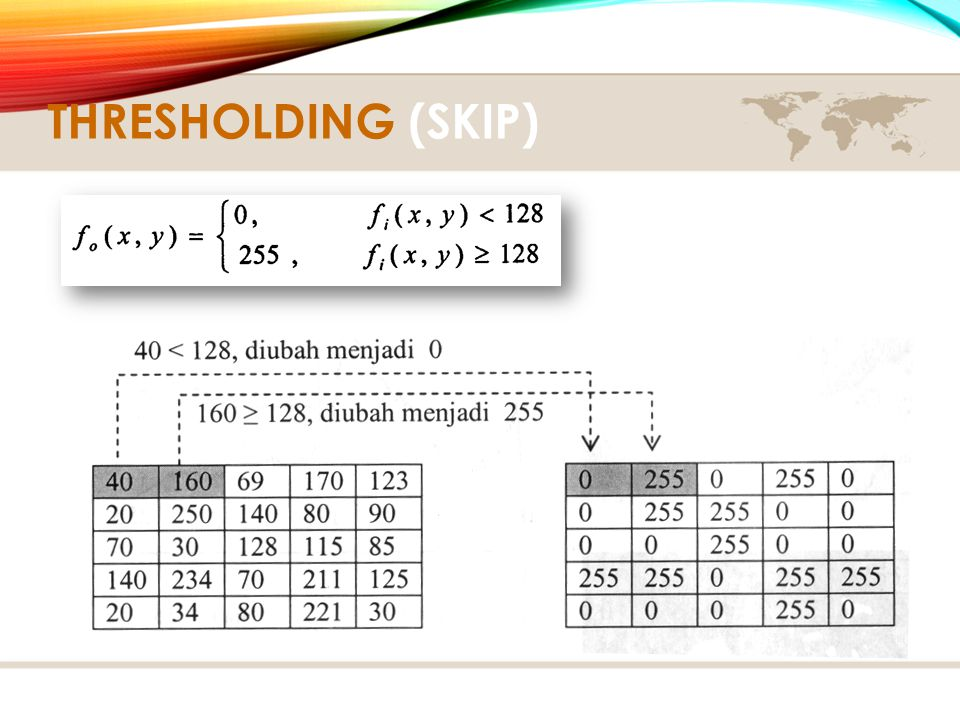 Thresholding (Skip)