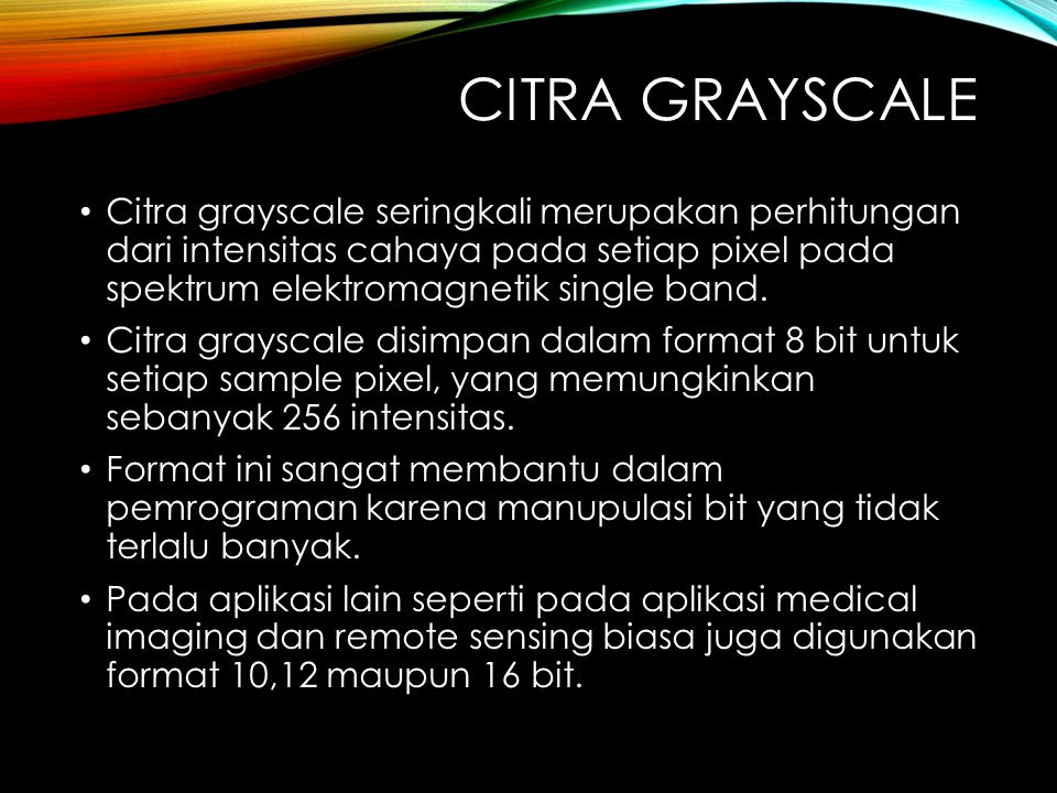 Citra grayscale