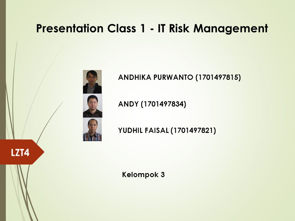 Presentation Class 1 - IT Risk Management