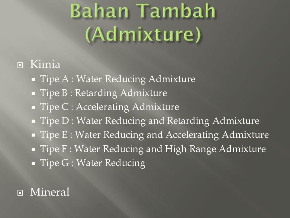 Bahan Tambah (Admixture)