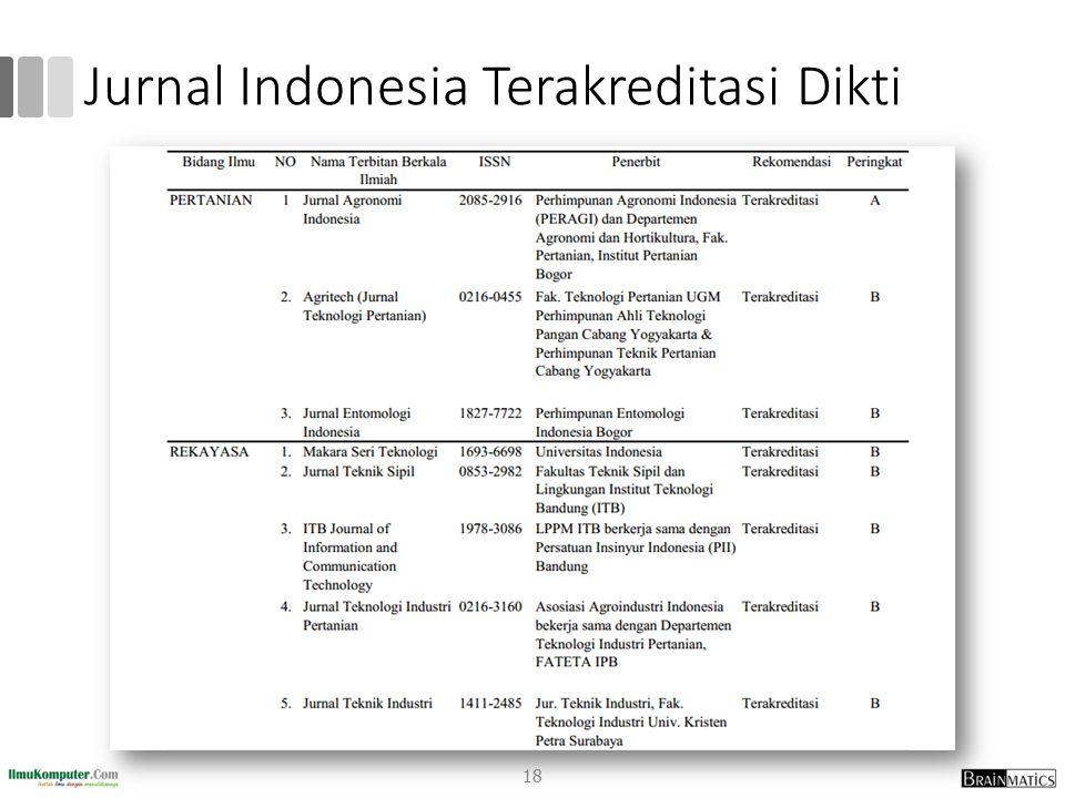 Jurnal Indonesia Terakreditasi Dikti