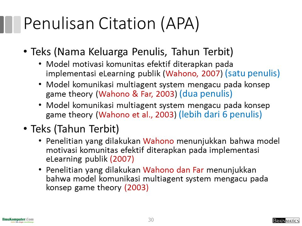 Penulisan Citation (APA)