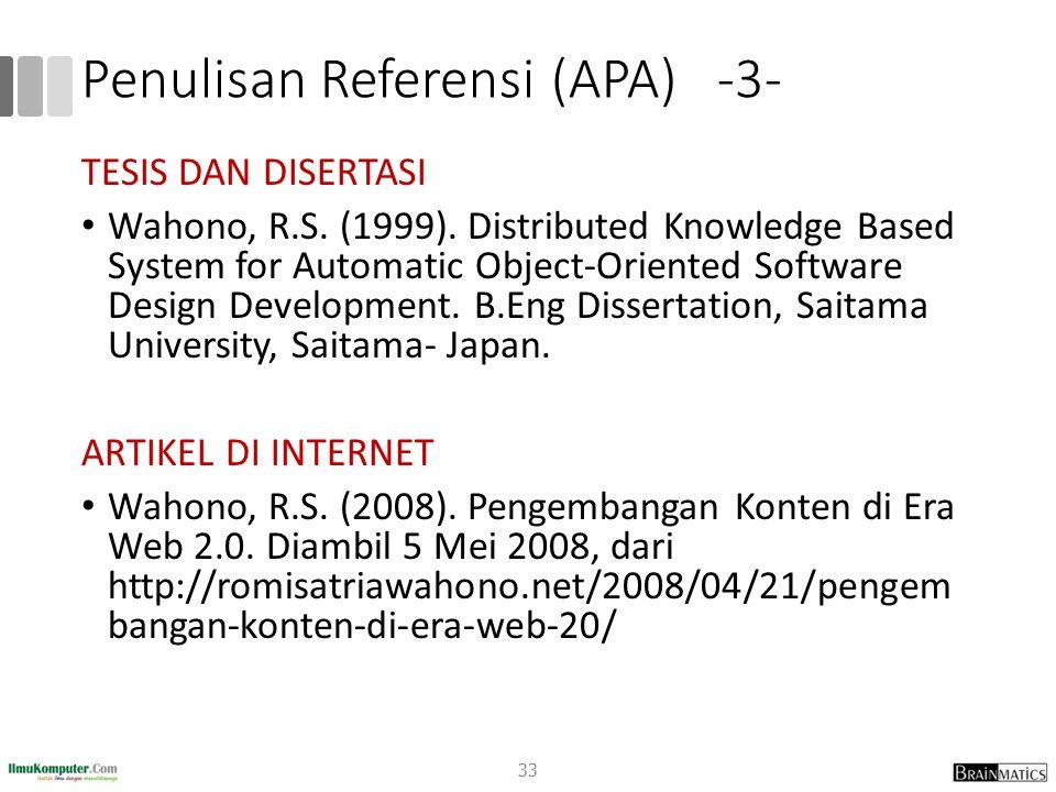 Penulisan Referensi (APA) -3-