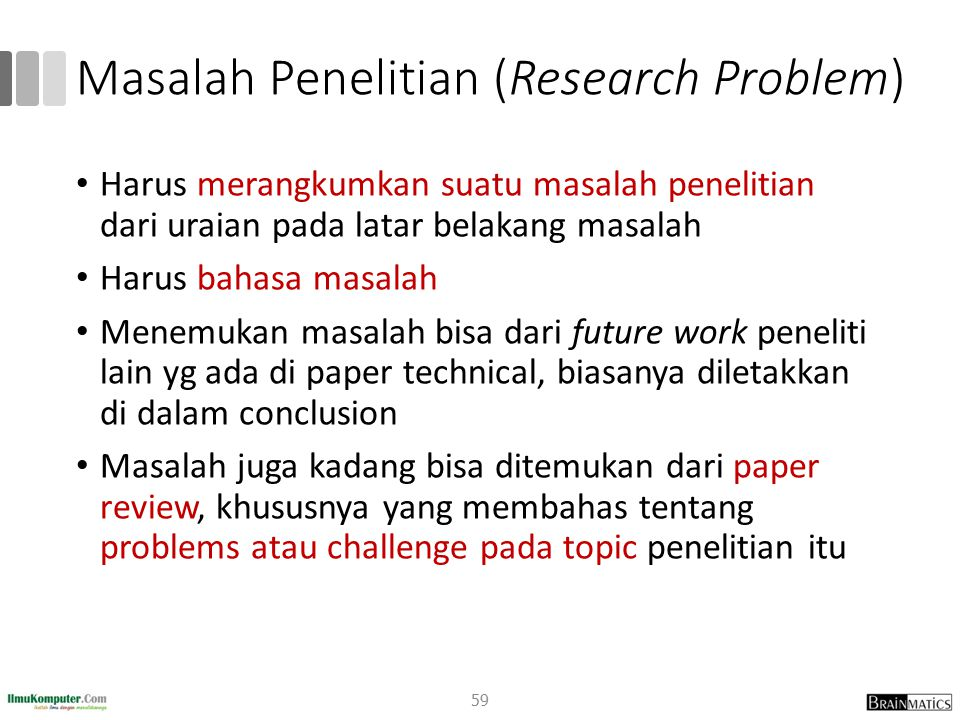 Masalah Penelitian (Research Problem)