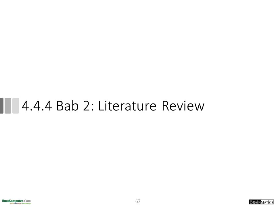 4.4.4 Bab 2: Literature Review