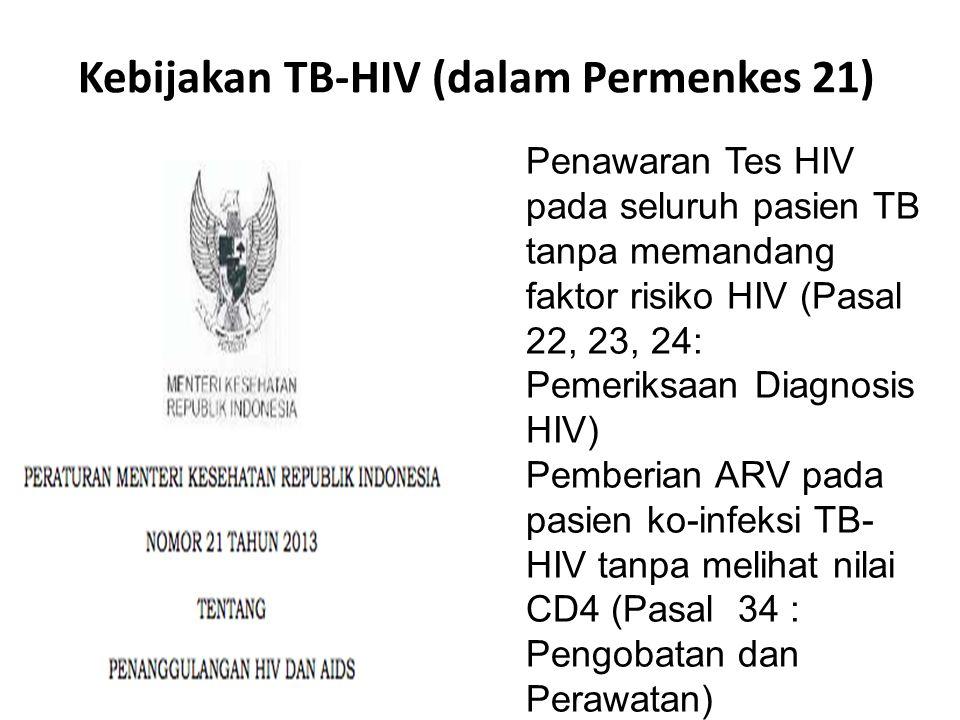 Kebijakan TB-HIV (dalam Permenkes 21)
