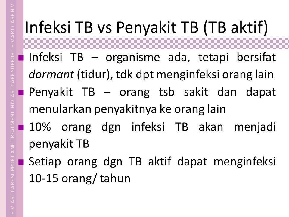 Infeksi TB vs Penyakit TB (TB aktif)