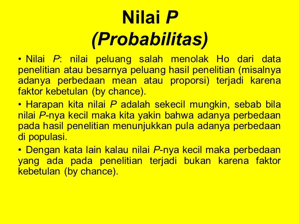 Nilai P (Probabilitas)