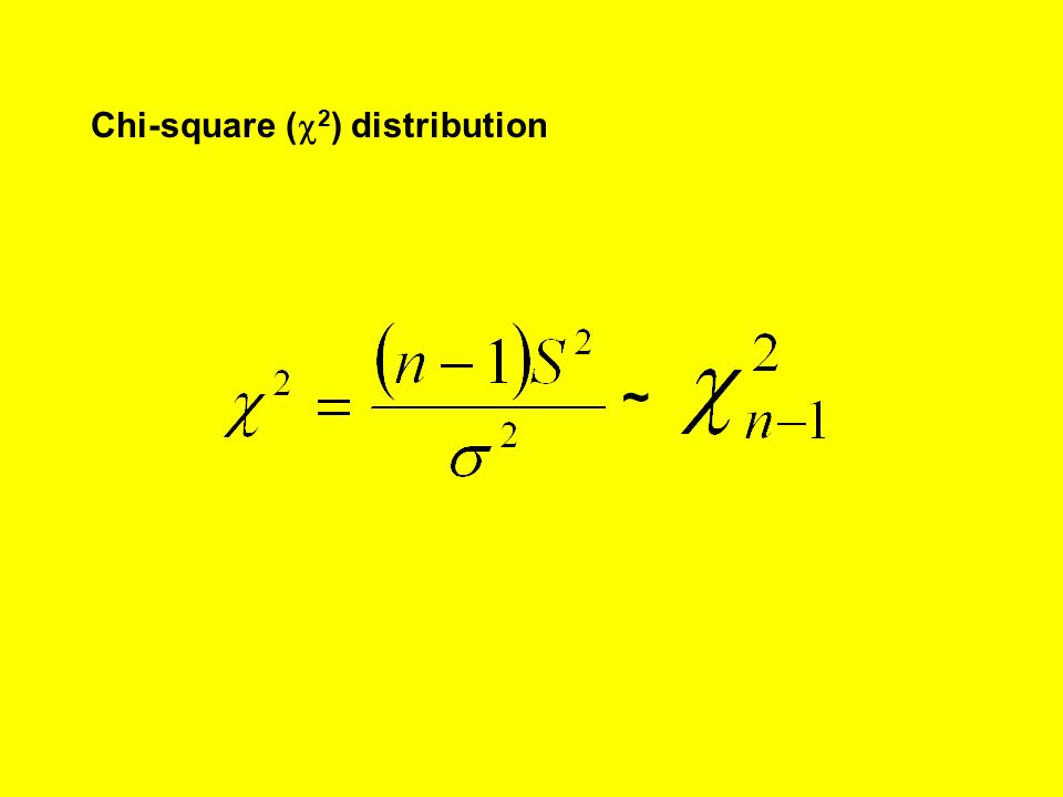 Chi-square (c2) distribution