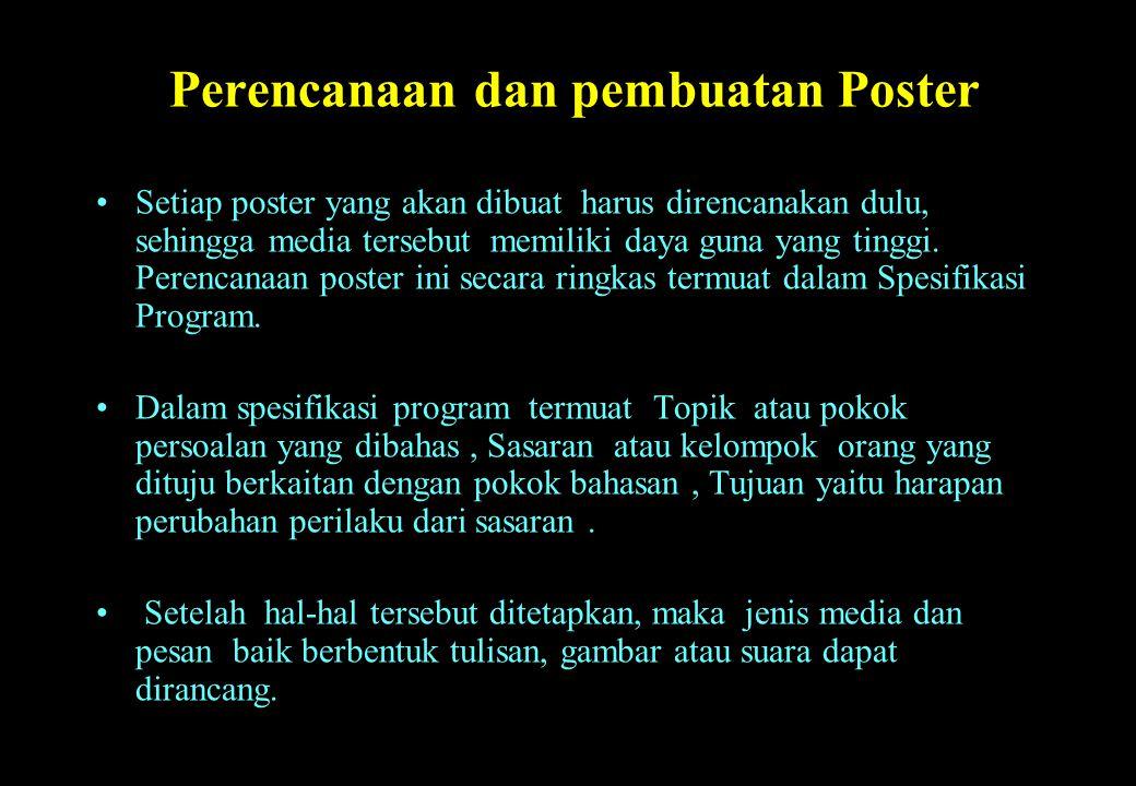 Perencanaan dan pembuatan Poster
