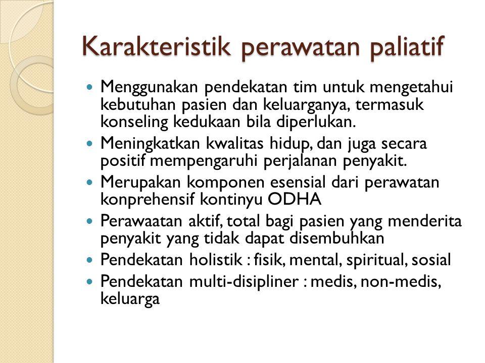Karakteristik perawatan paliatif