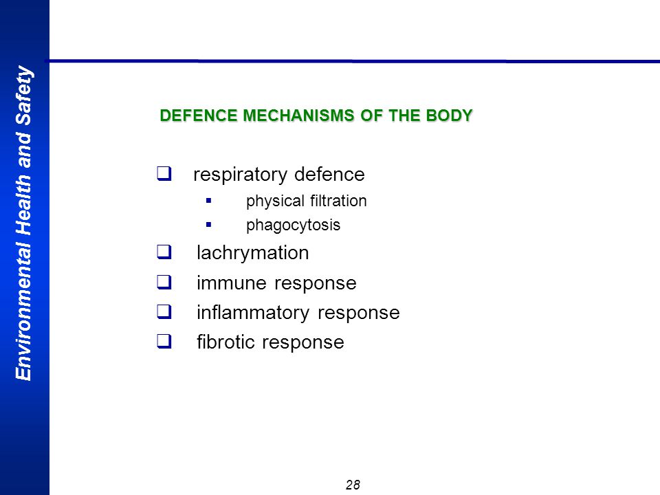 DEFENCE MECHANISMS OF THE BODY
