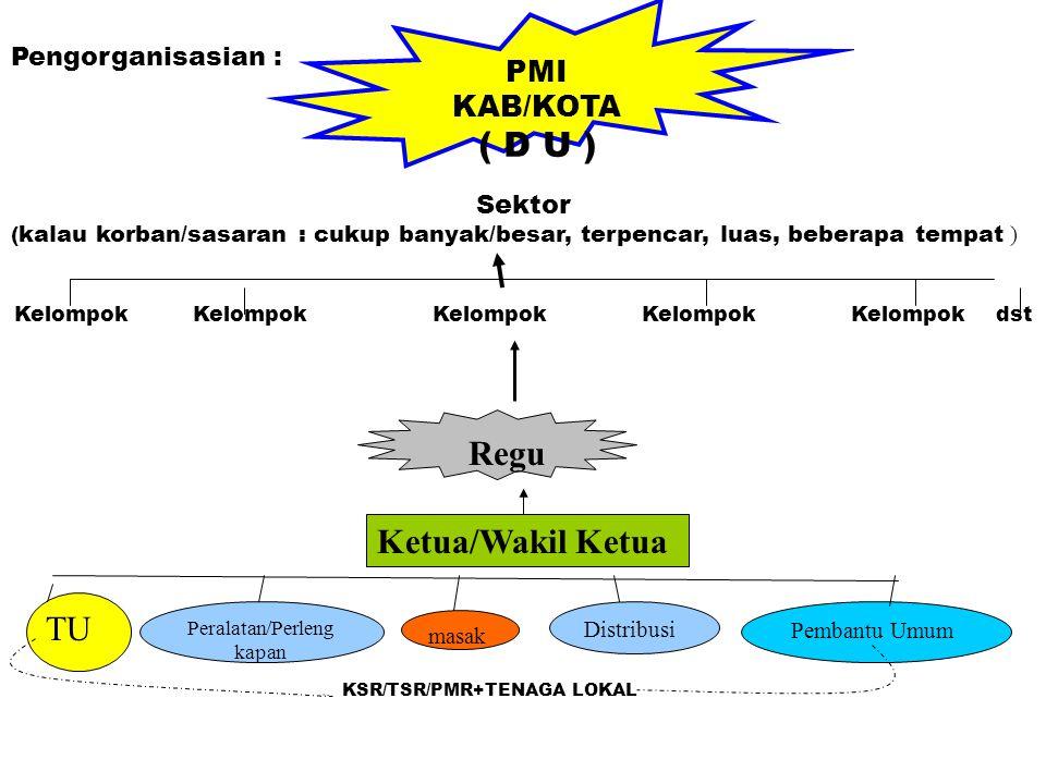 ( D U ) Regu Ketua/Wakil Ketua TU PMI KAB/KOTA Pengorganisasian :