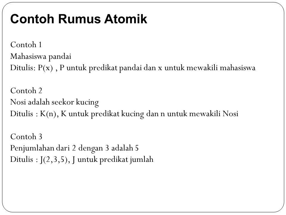 Contoh Rumus Atomik Contoh 1 Mahasiswa pandai