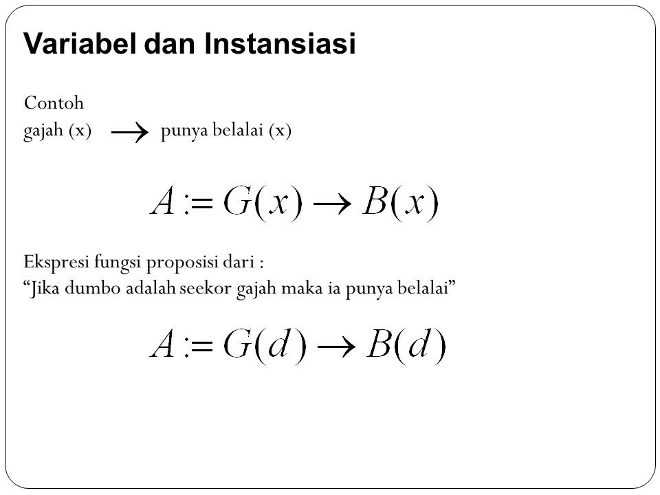 Variabel dan Instansiasi