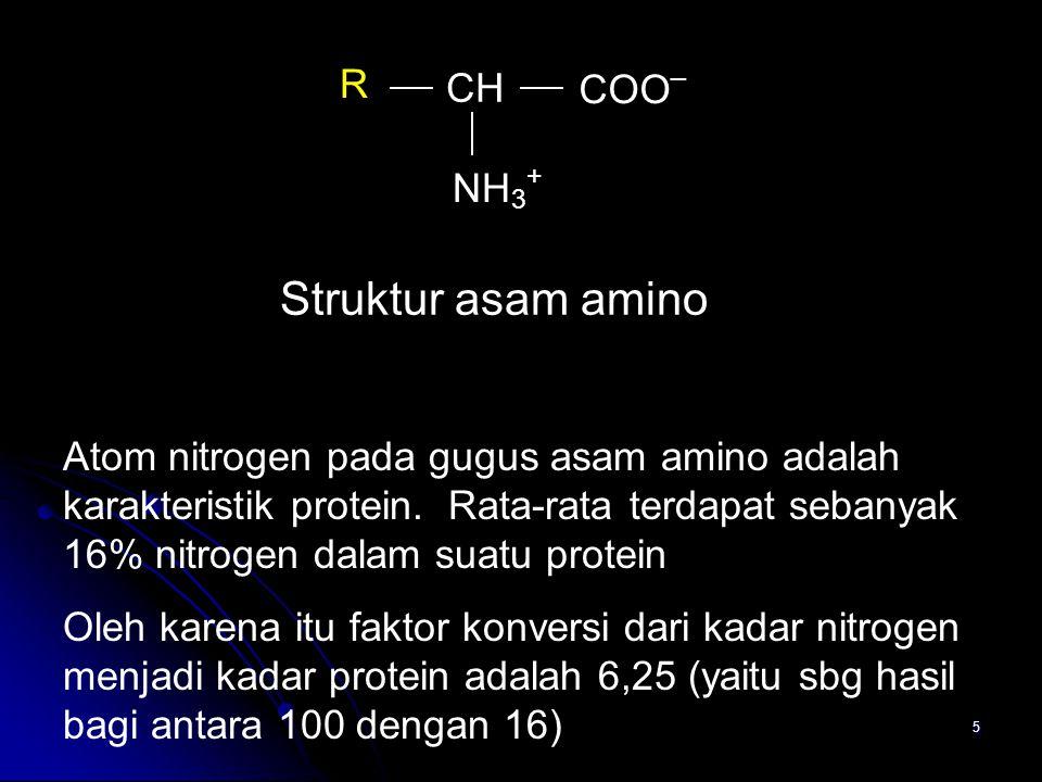 Struktur asam amino R CH COO_ NH3+