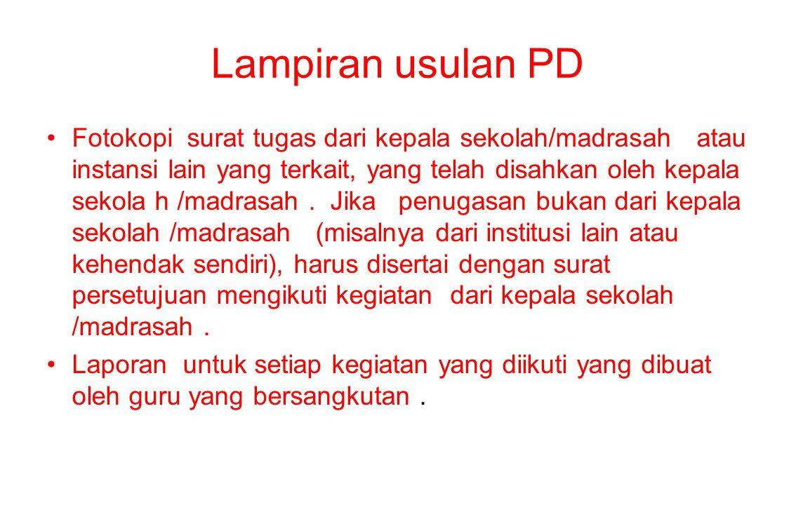 Lampiran usulan PD