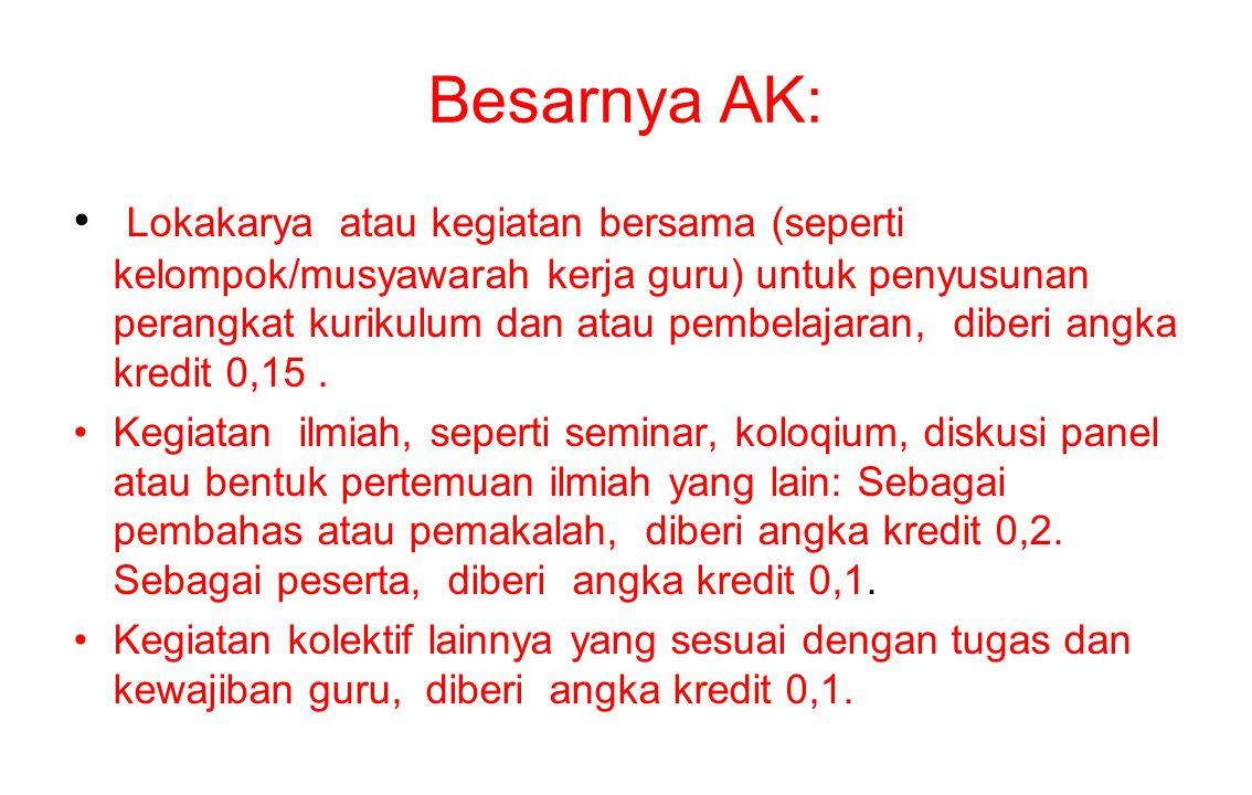 Besarnya AK: