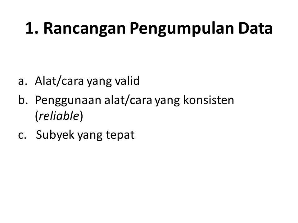 1. Rancangan Pengumpulan Data
