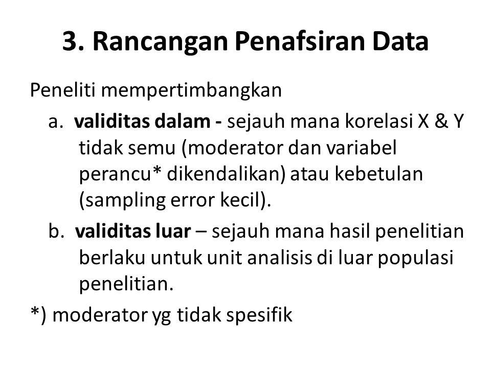 3. Rancangan Penafsiran Data