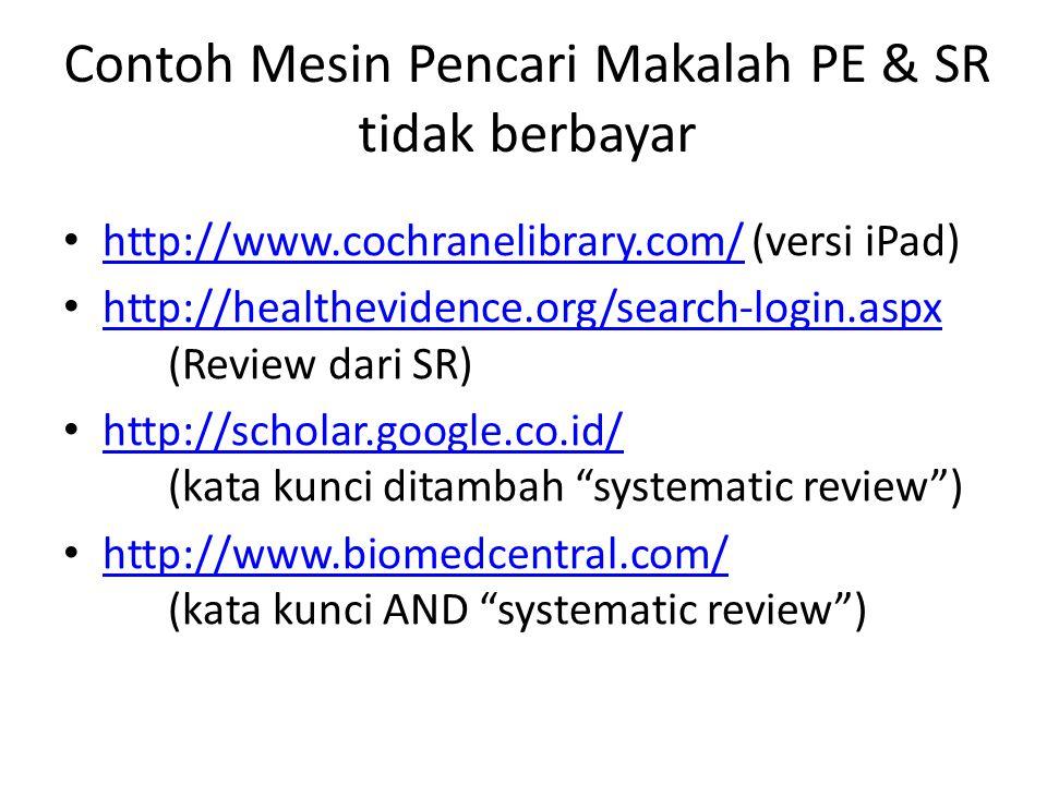Contoh Mesin Pencari Makalah PE & SR tidak berbayar