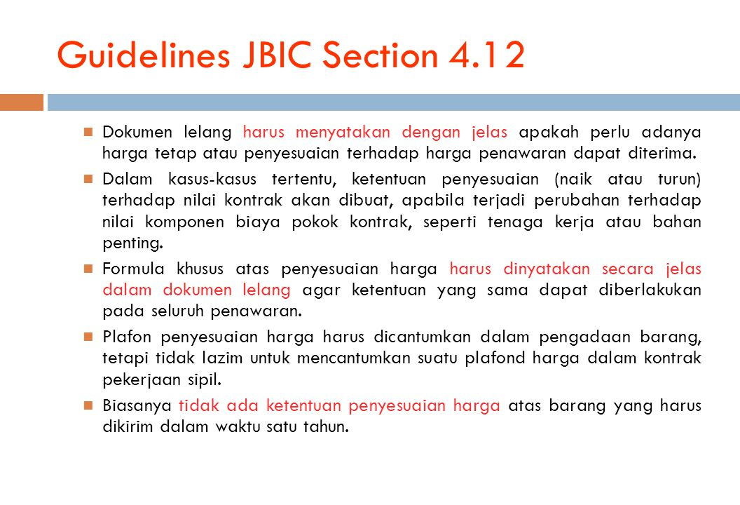 Guidelines JBIC Section 4.12