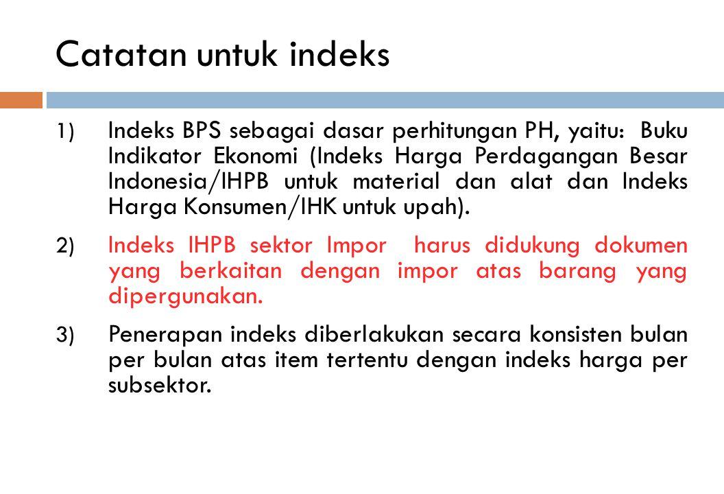 Catatan untuk indeks