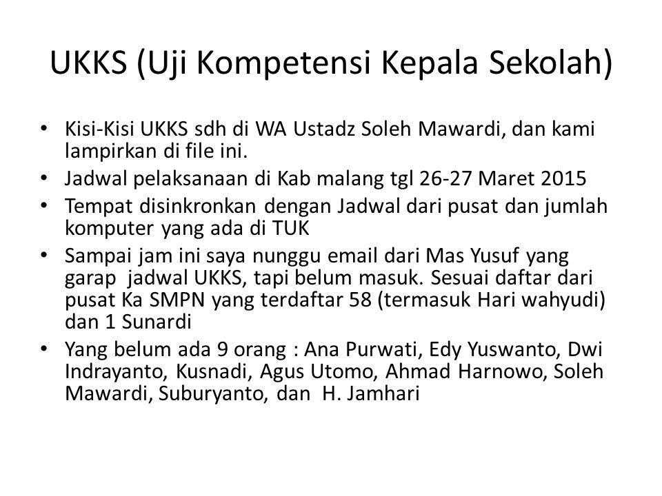 UKKS (Uji Kompetensi Kepala Sekolah)