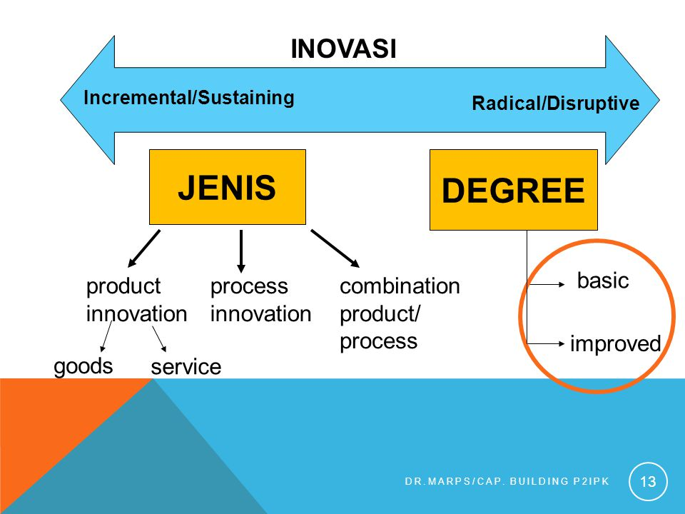 JENIS DEGREE InovaSi basic product innovation process innovation