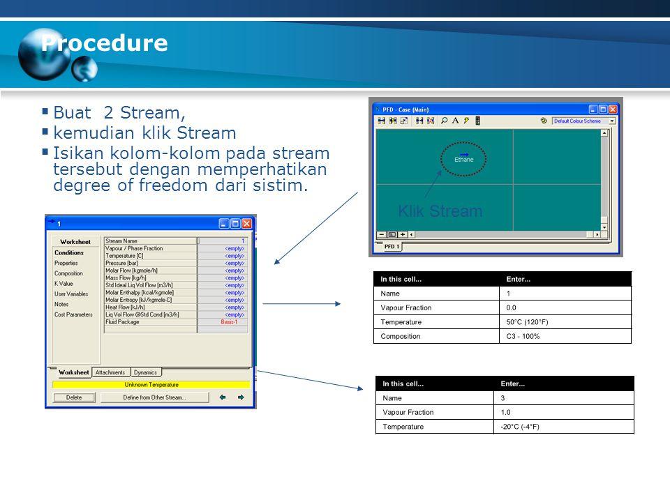 Procedure Buat 2 Stream, kemudian klik Stream