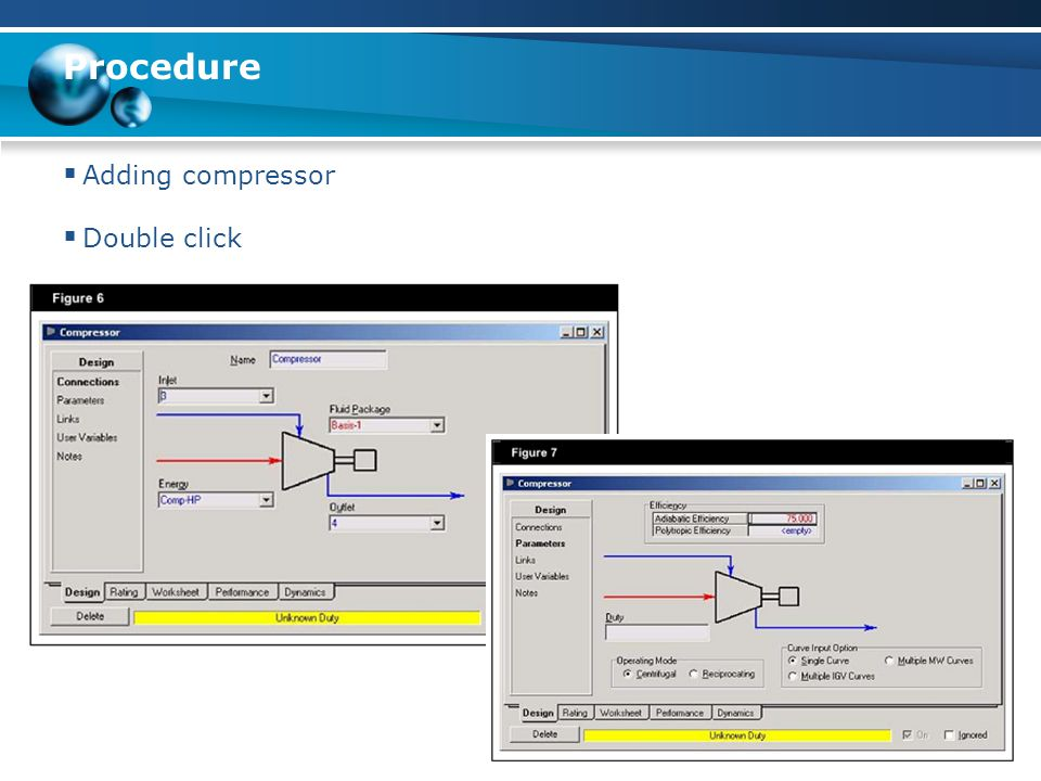 Procedure Adding compressor Double click