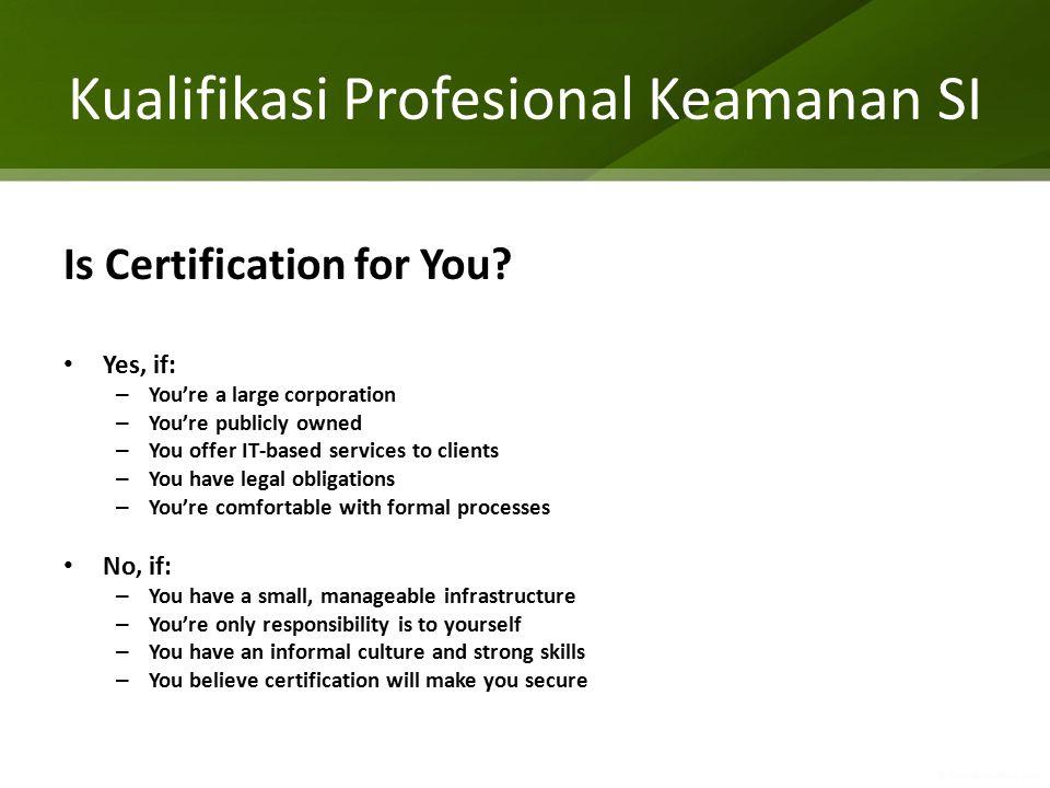 Kualifikasi Profesional Keamanan SI
