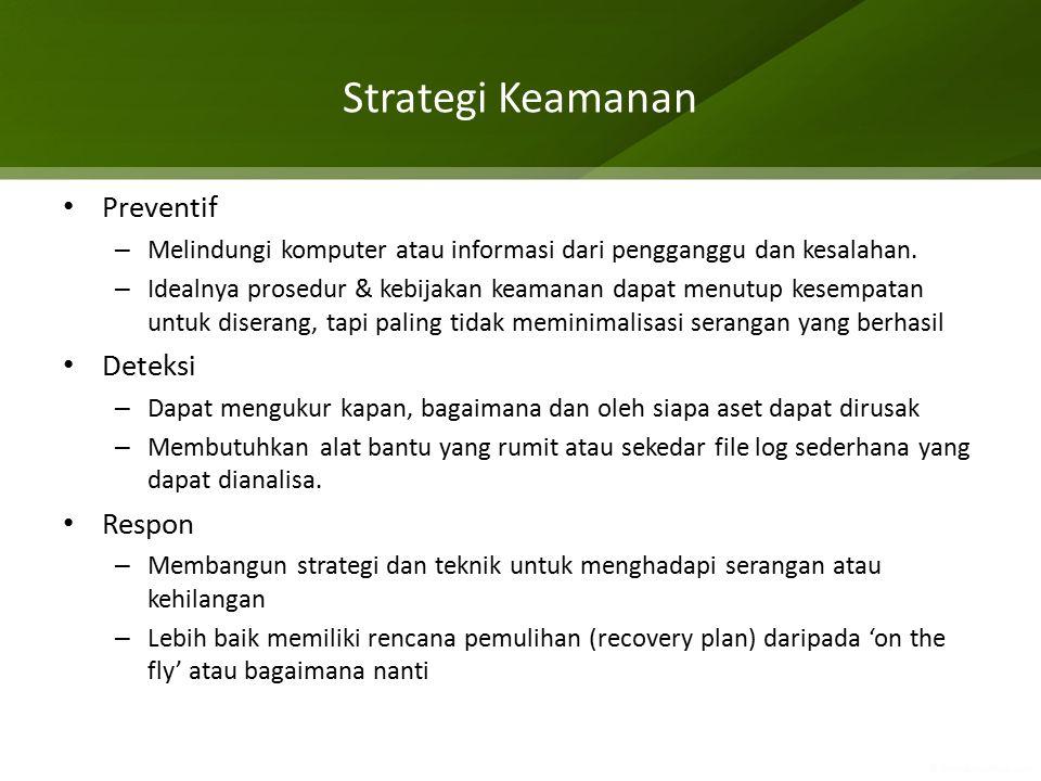 Strategi Keamanan Preventif Deteksi Respon