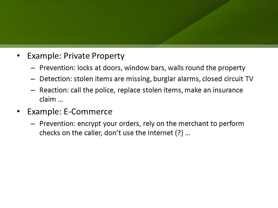 Example: Private Property
