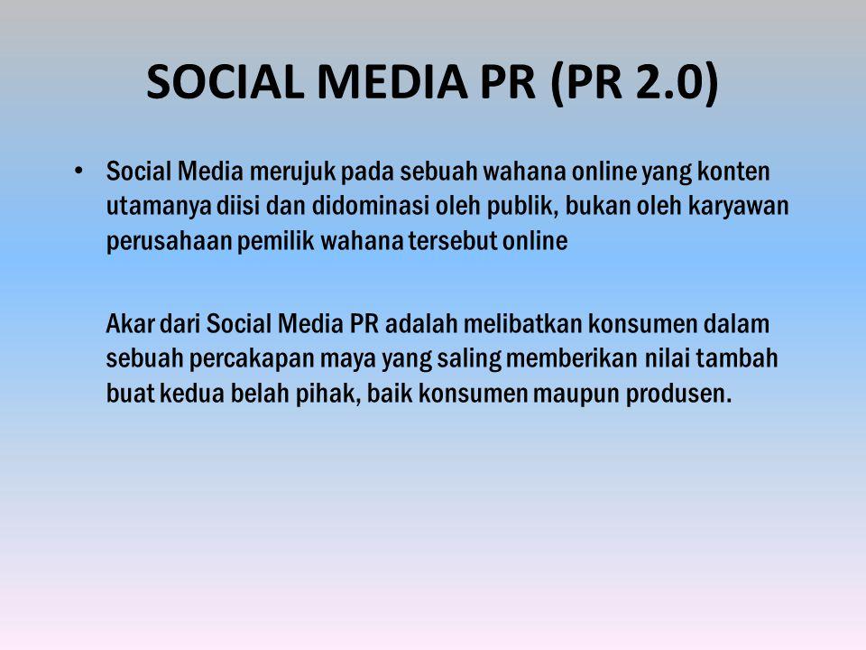 SOCIAL MEDIA PR (PR 2.0)