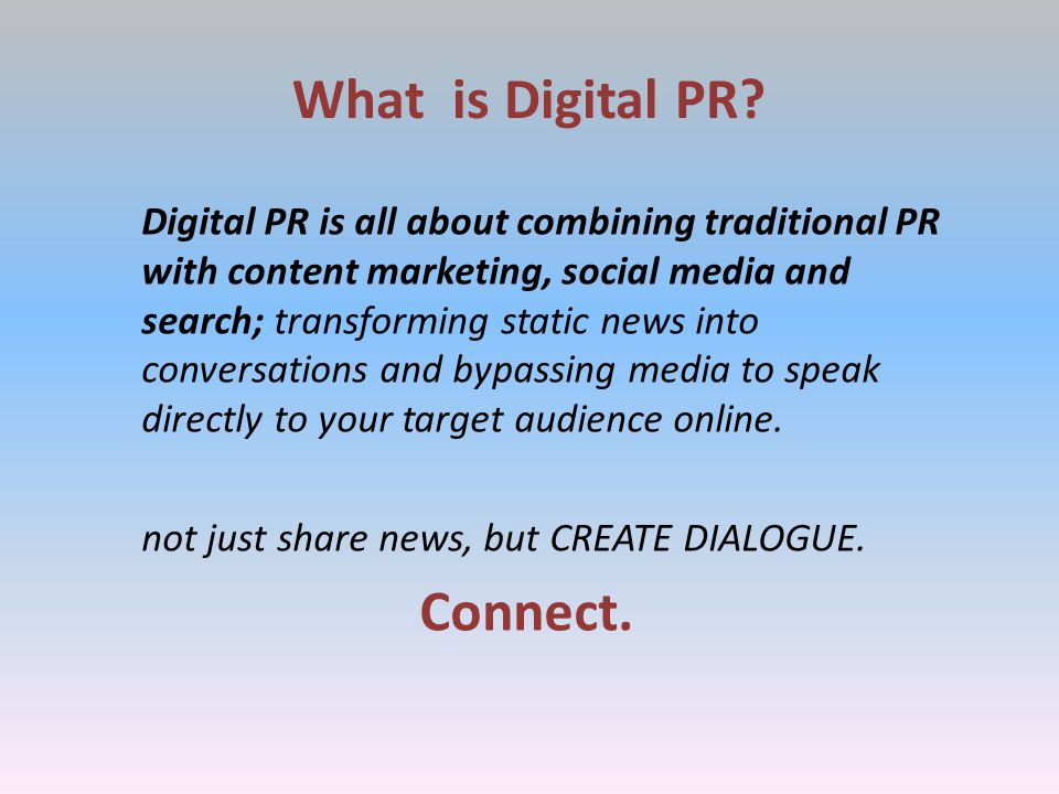 What is Digital PR