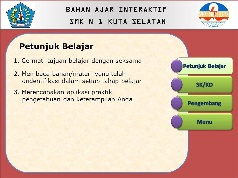 BAHAN AJAR INTERAKTIF SMK N 1 KUTA SELATAN Petunjuk Belajar