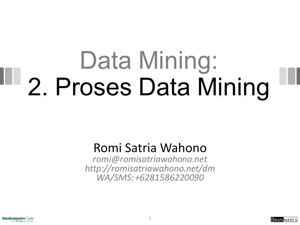 Data Mining: 2. Proses Data Mining