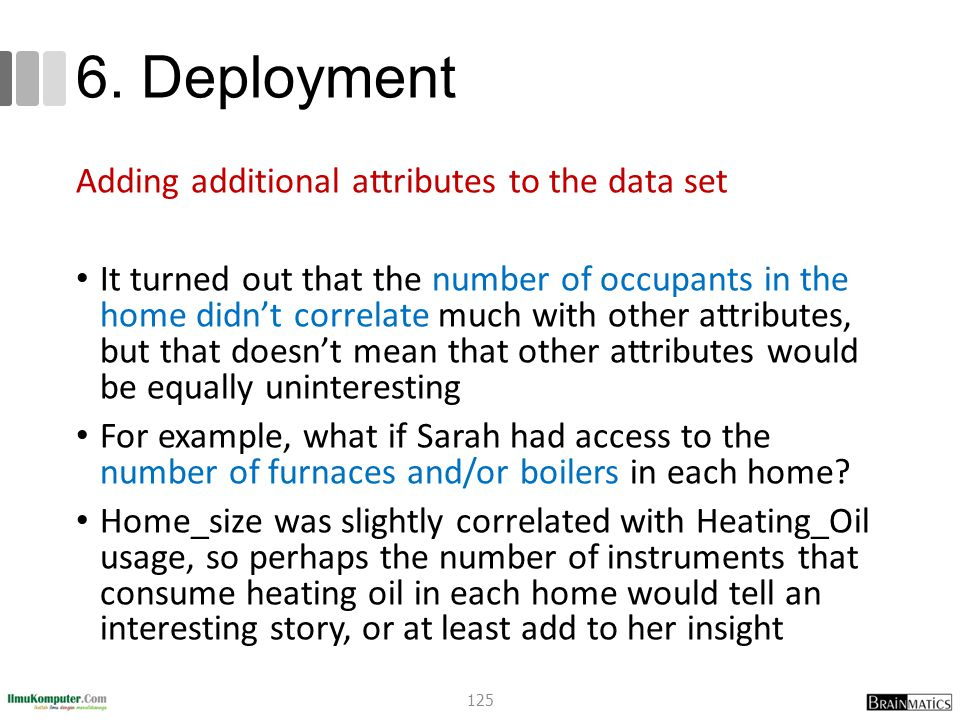 6. Deployment Adding additional attributes to the data set