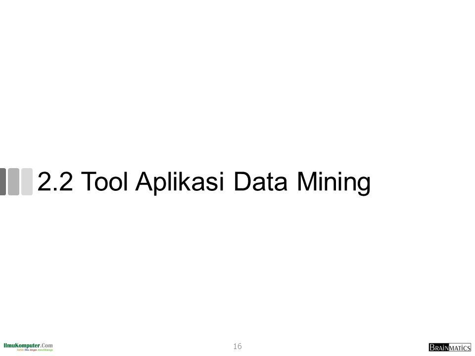 2.2 Tool Aplikasi Data Mining