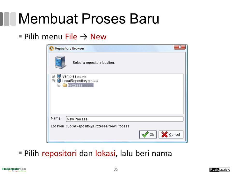 Membuat Proses Baru Pilih menu File → New