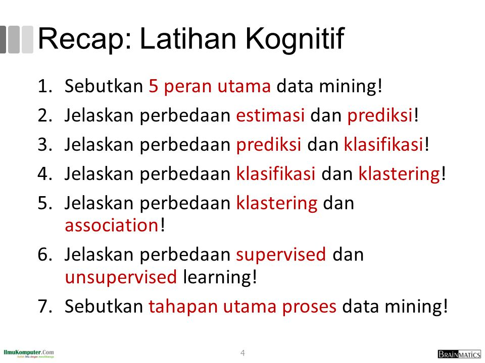 Recap: Latihan Kognitif