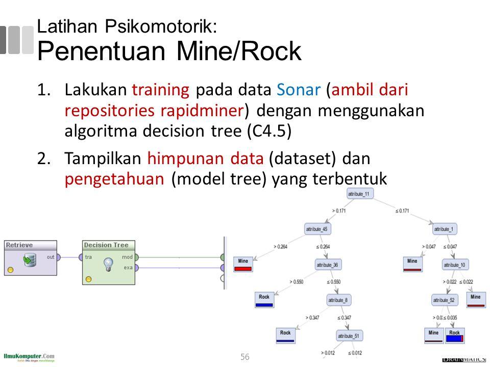Latihan Psikomotorik: Penentuan Mine/Rock