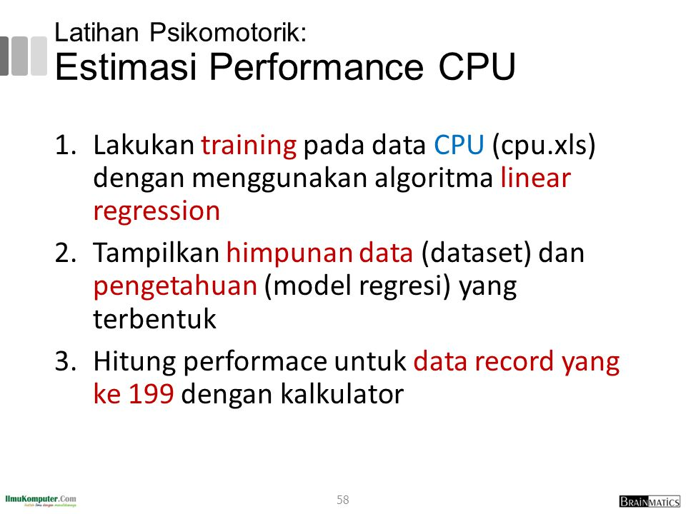 Latihan Psikomotorik: Estimasi Performance CPU