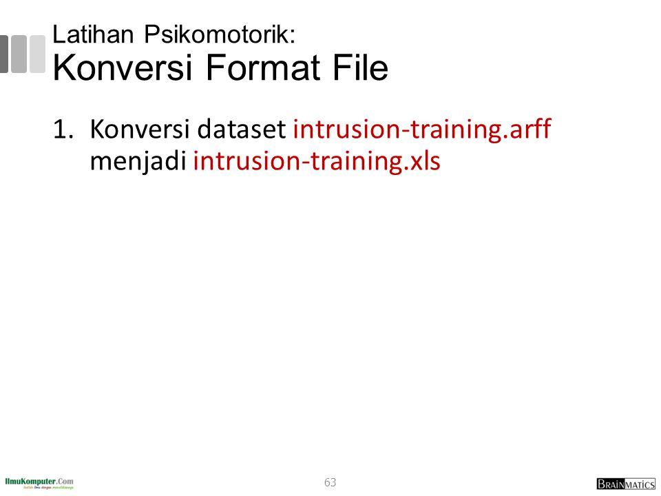 Latihan Psikomotorik: Konversi Format File