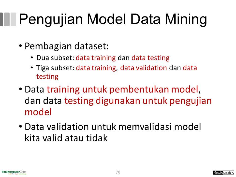 Pengujian Model Data Mining